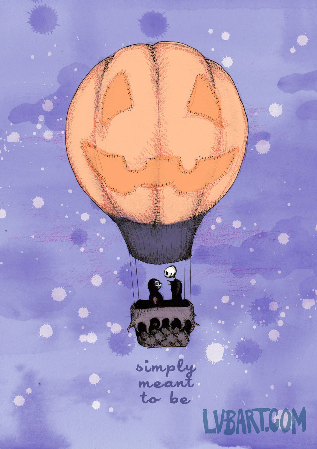 Nightmare Before Pumpkin Balloon Fine Art Print
