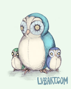 Stuffed Owls Fine Art Print