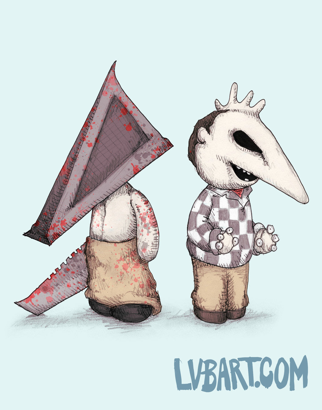 Pyramid Heads Fine Art Print