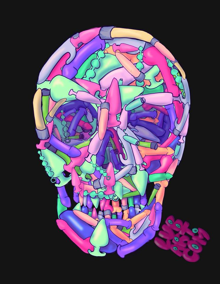 Sex Toy Skull Fine Art Print