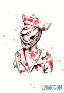 Silent Hill Nurse Fine Art Print
