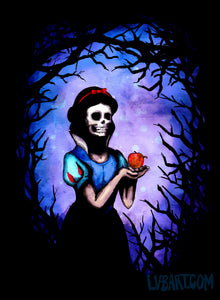 Skull White Rotten Apple Fine Art Print