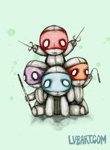 Teenage Mutant Ninja Plush Fine Art Print