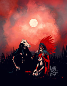 The Wolf and Red Fine Art Print