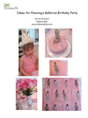 Planning a Ballerina Birthday Party – Free Download