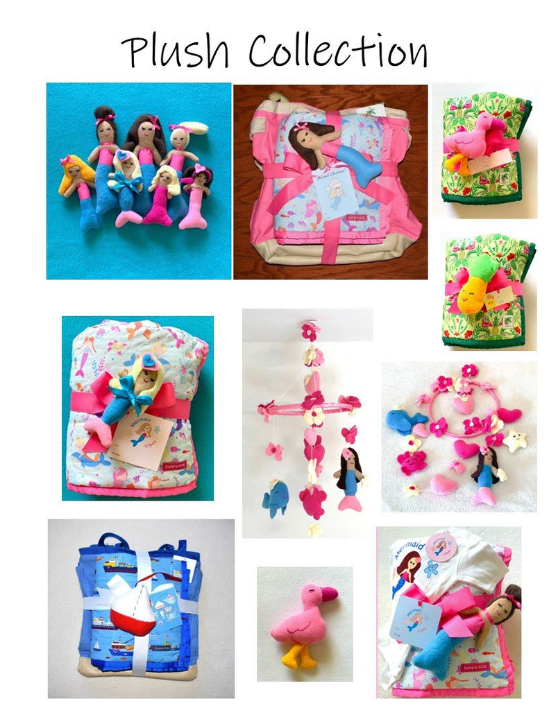 handmade plush dolls, toys and mobiles