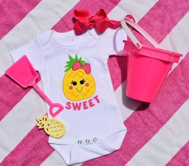 pineapple baby bodysuit onesie