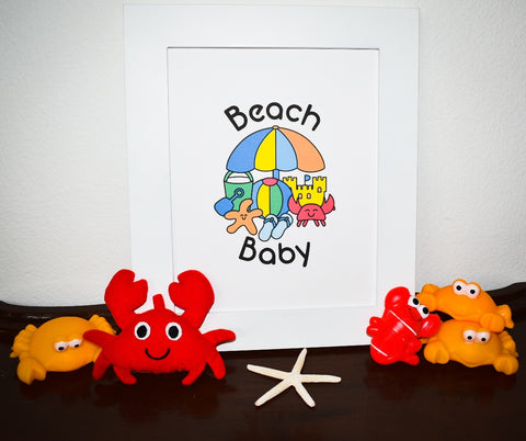 beach baby printable art