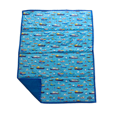 blue beachy play mat