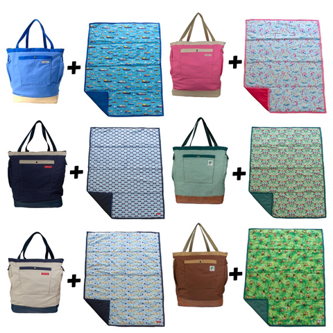 diaper bags and play mats