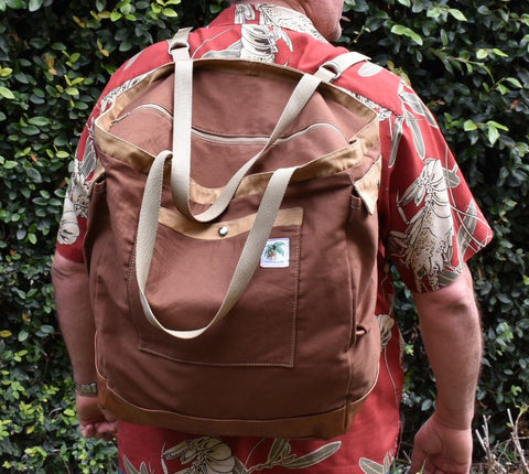 brown dad backpack