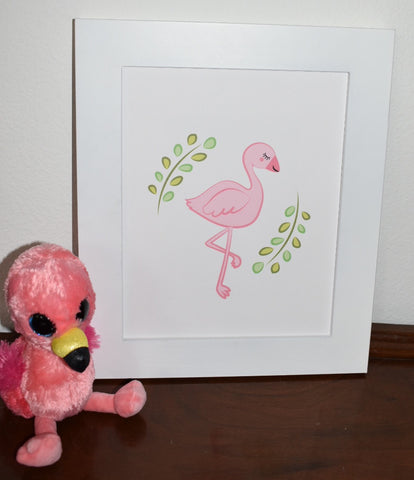 pink flamingo baby room printable art