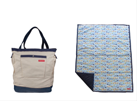 nautical bag and mat