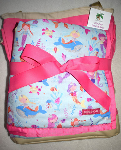 pink bag and mermaid mat bundle