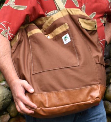 daddy diaper bag in brown