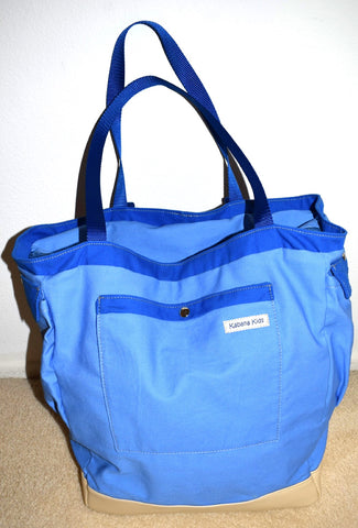 blue maternity hospital bag