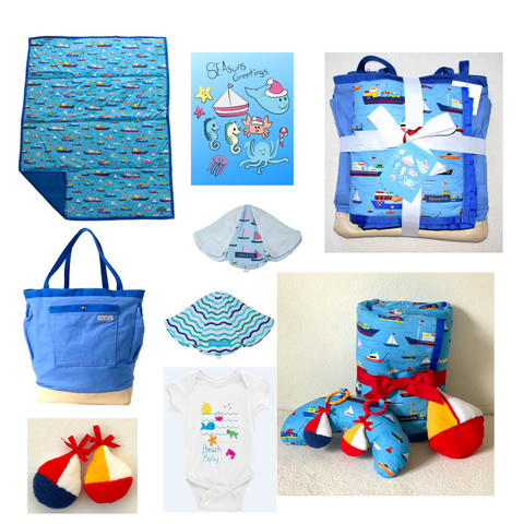 2020 christmas gifts, holiday gifts, for the boat lover, boat baby gifts, blue christmas gifts