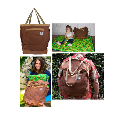 brown beach diaper bag
