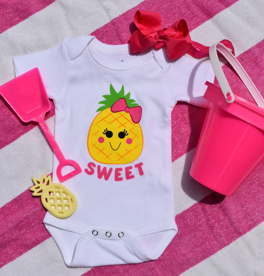 Kabana Kids Beachy Baby Bodysuit -- Sweet Pineapple - Kabana Kids