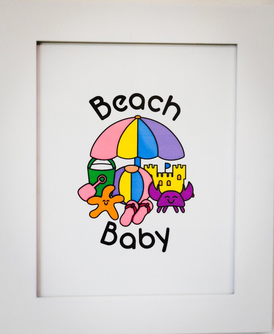 Printable - Beach Baby Girl Digital Download
