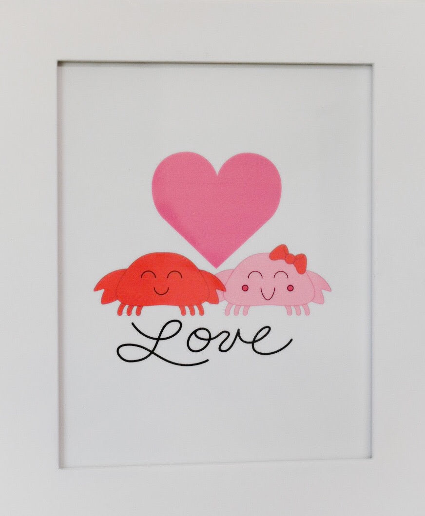 Printable - Crabs in Love Digital Download