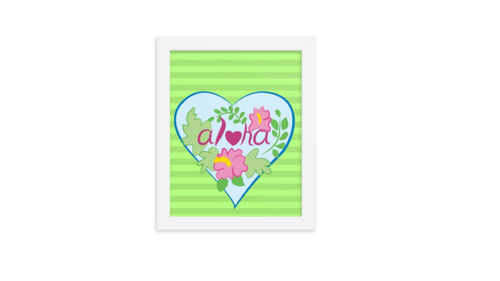 Aloha Heart Printable Wall Art (Digital Download)