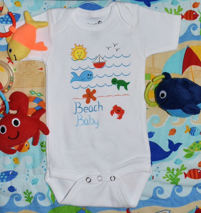 Kabana Kids Beachy Baby Bodysuit -- Beach Baby Waves - Kabana Kids
