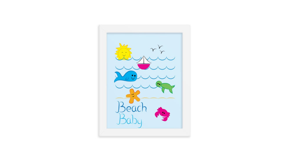 Beach Baby Waves Printable Wall Art (Digital Download)