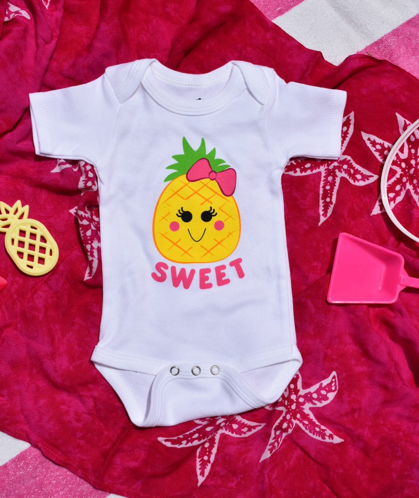 sweet pineapple baby onesie