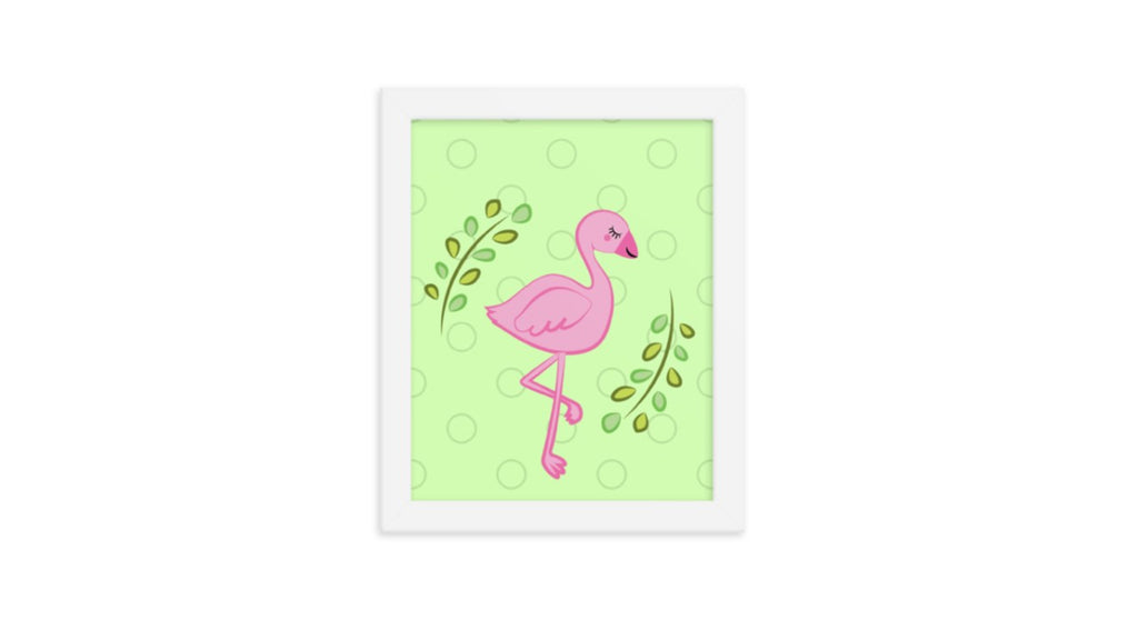 Pink Flamingo Printable Wall Art (Digital Download)