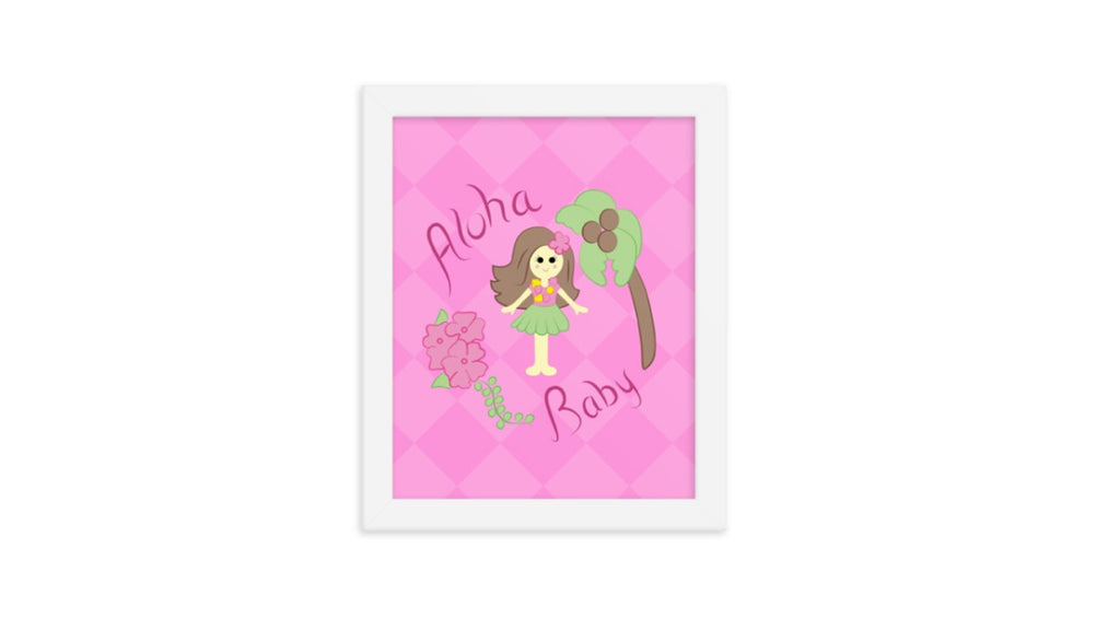 Hula Girl Printable Wall Art (Digital Download)
