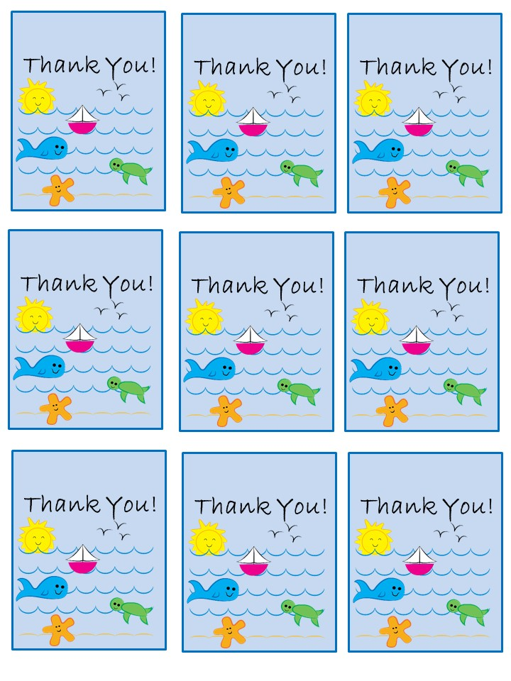 Printables - Digital Downloads – Beach Waves Favor Tags