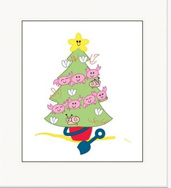 Christmas Printable Art - Beachy Christmas Tree - Kabana Kids