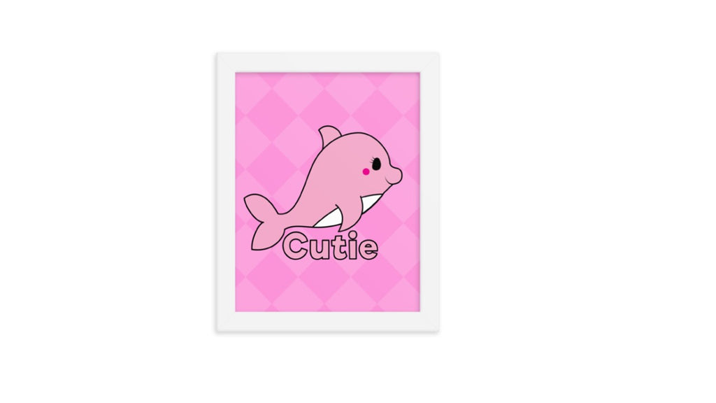 Pink Dolphin Printable Wall Art (Digital Download)