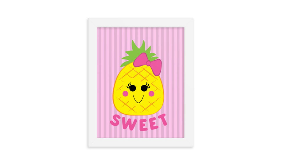 Sweet Pineapple Printable Wall Art (Digital Download)