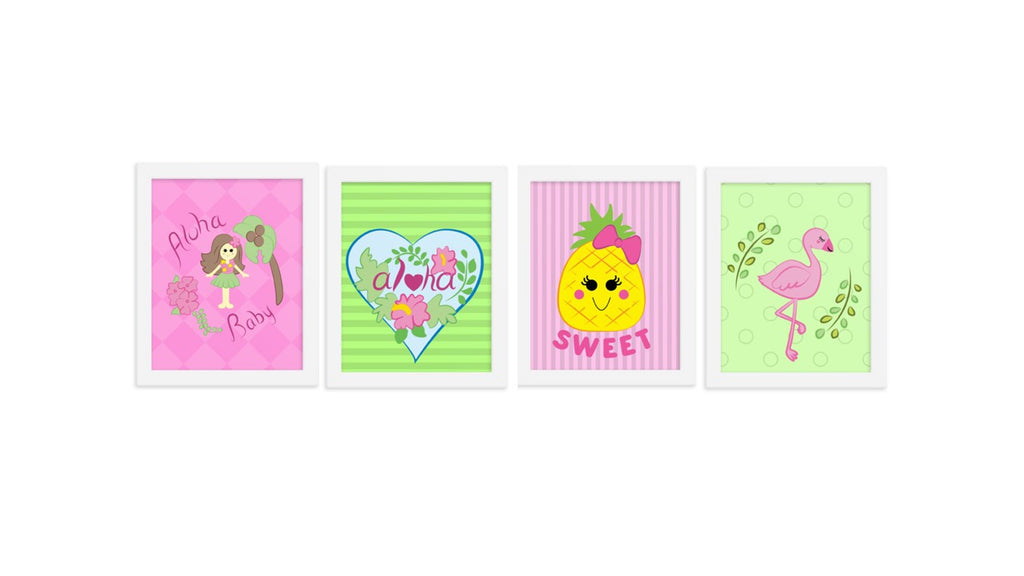 Tropical Art Set of 4 (Digital Download)