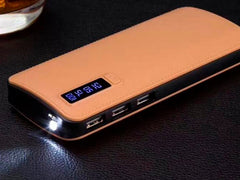 Baterie externa Power Bank 30000 mAh, design elegant, 3 iesiri USB