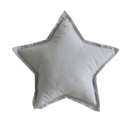 Personalised - Linen Star Pillow Grey 40cm