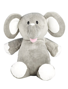 Personalised Teddy - Elephant Grey - D'lighted