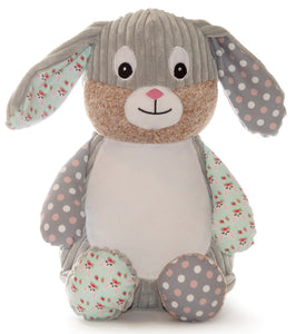 Personalised Teddy - Harlequin Bunny - Chic Print