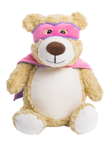 Personalised Teddy - Hero Bear Pink