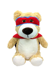 Personalised Teddy - Hero Bear Red