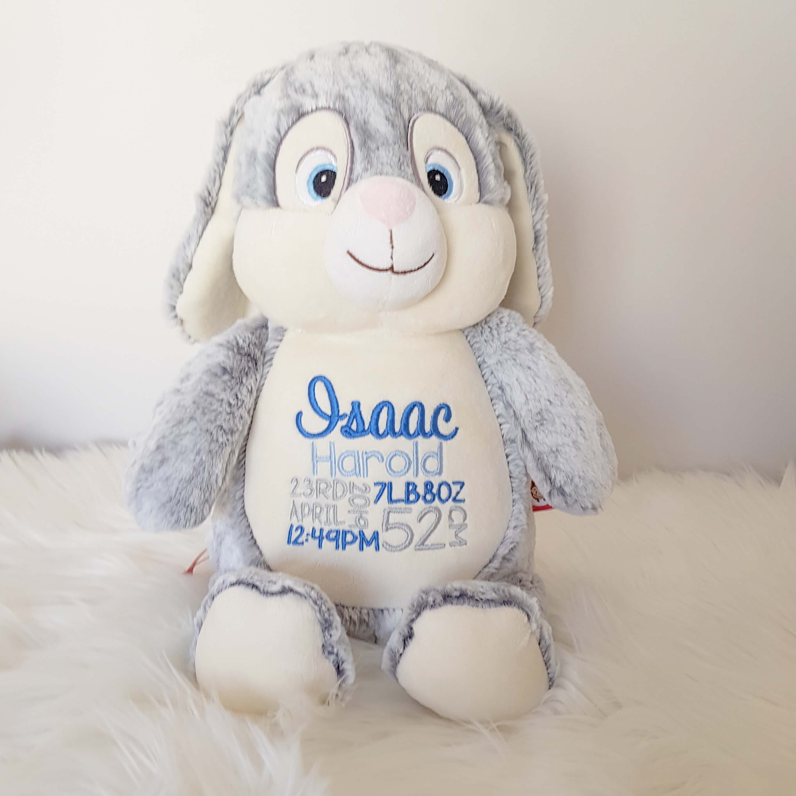 Personalised  Teddy - Bunny Grey