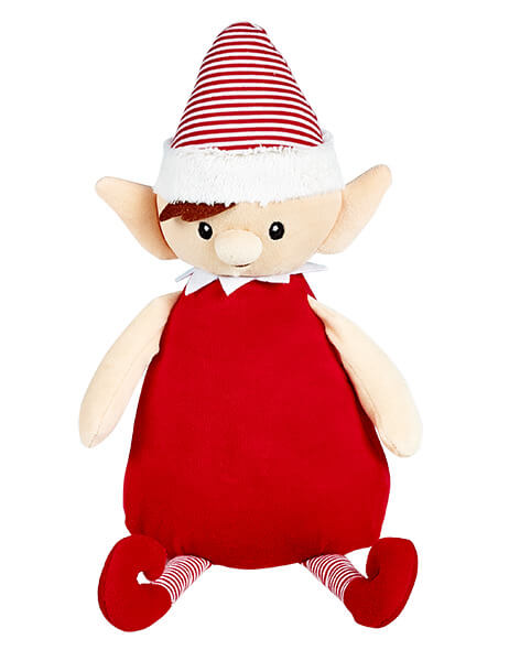 Personalised Teddy - Christmas Elf Red - D'lighted