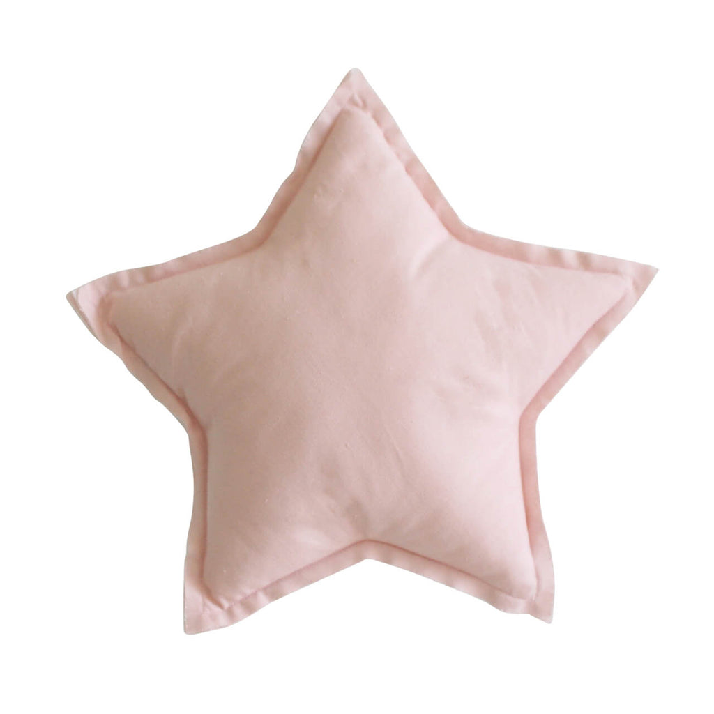 Personalised - Linen Star Pillow Pink40cm