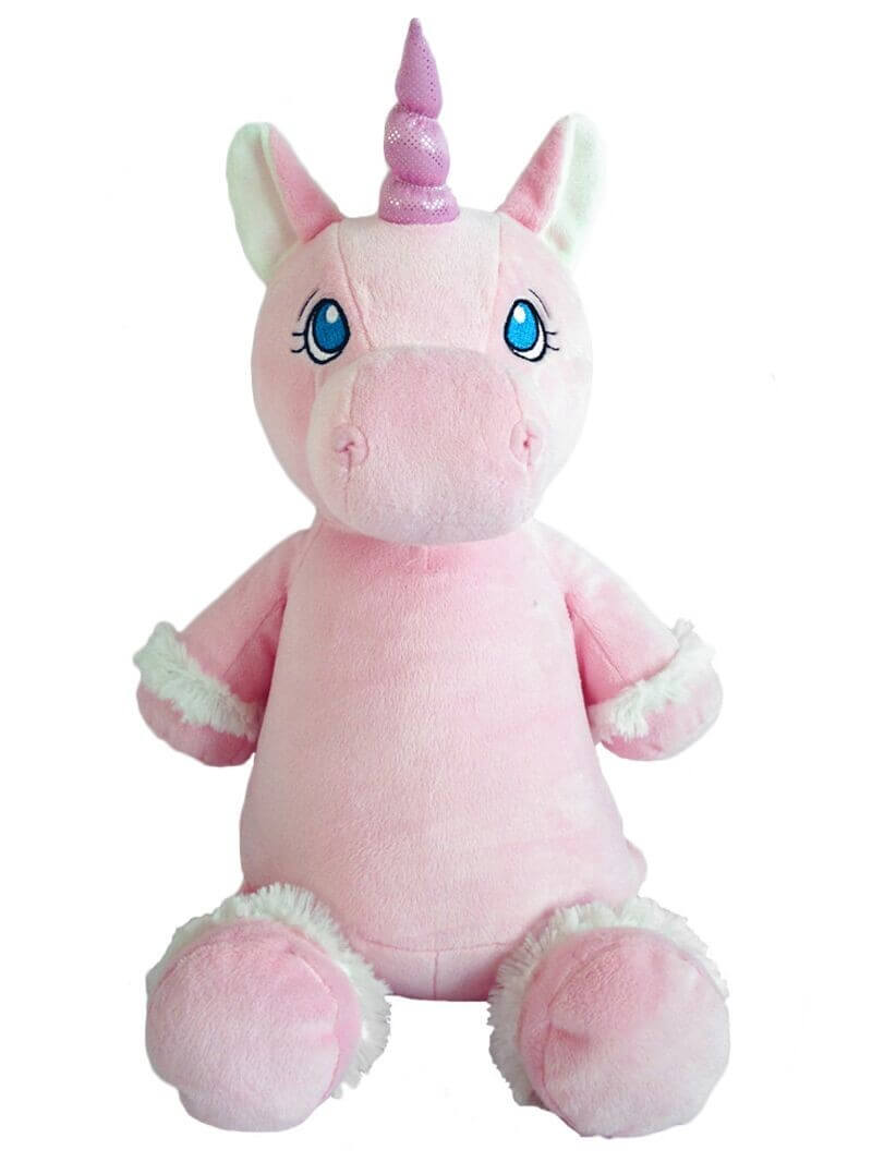 Personalised Teddy - Unicorn Pink - D'lighted