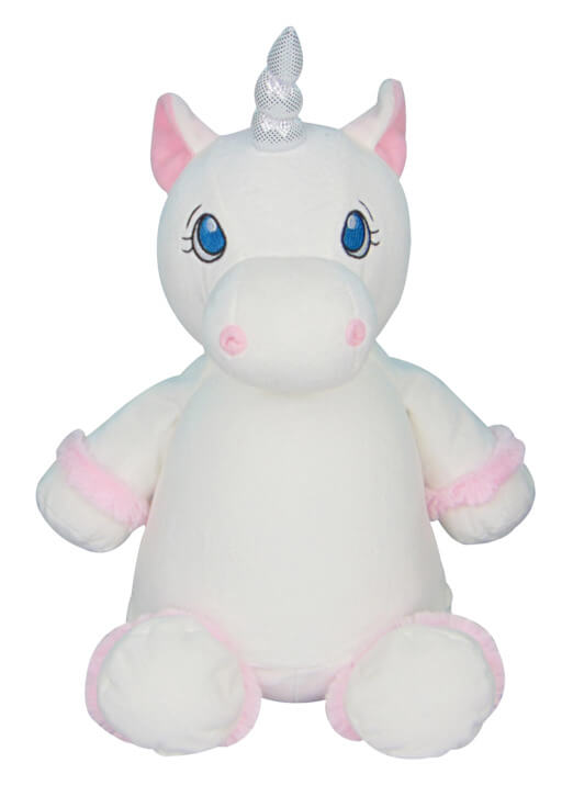 Personalised Teddy - Unicorn White - D'lighted