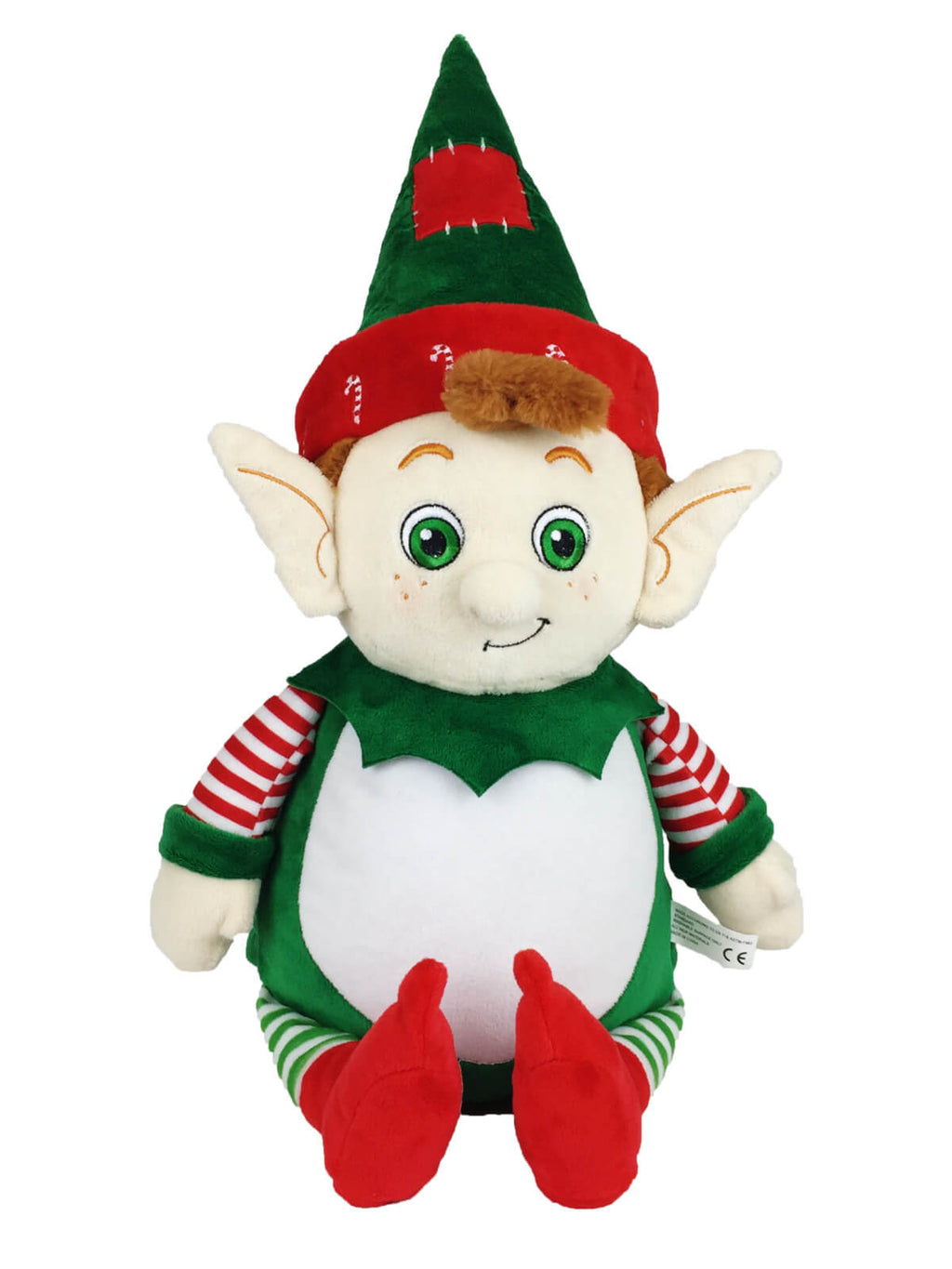 Personalised Teddy - Christmas Elf - D'lighted