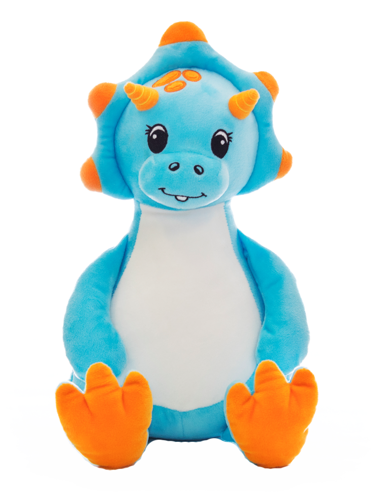 Personalised Teddy - Blue Dinosaur