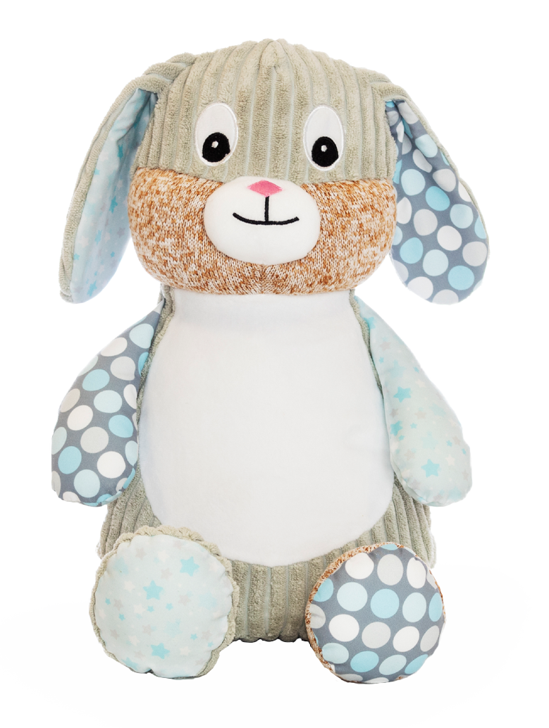 Personalised Teddy - Starry Night Harlequin Bunny